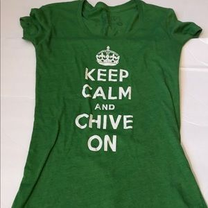 Graphic Tee/Top Small Keep Calm and Chive On